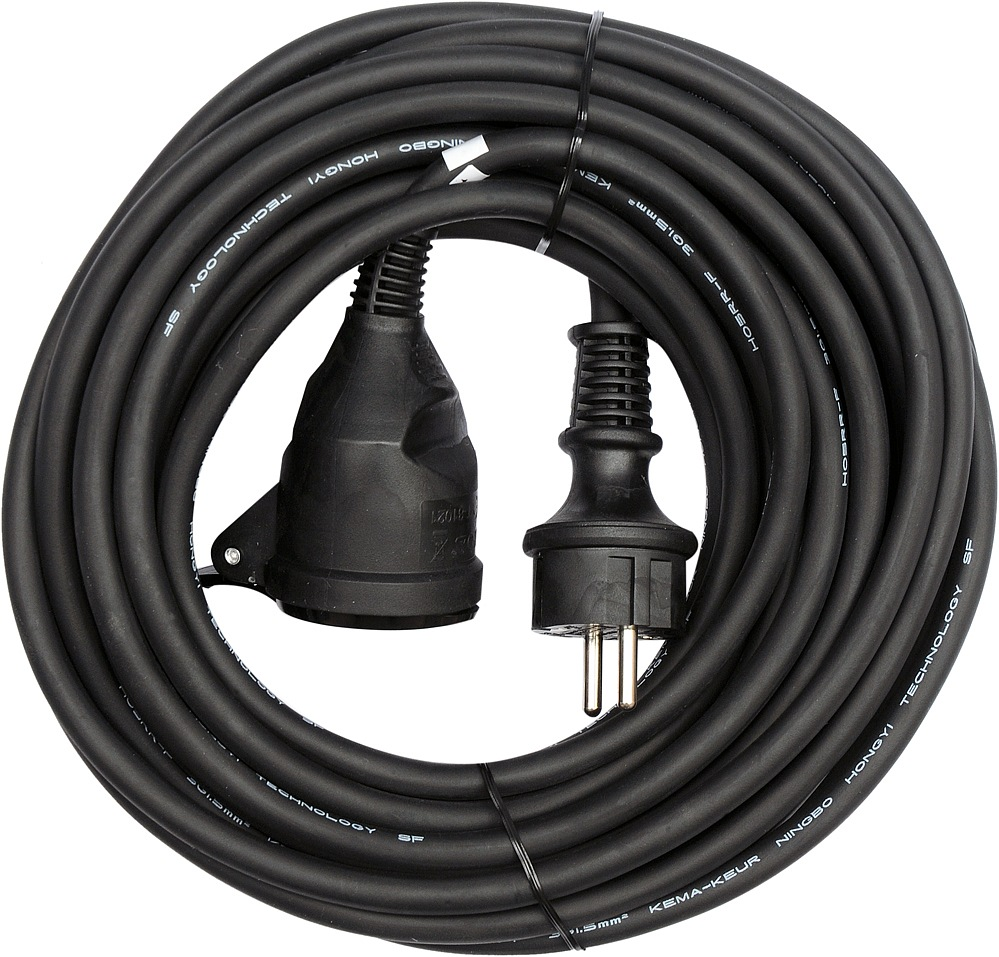 Prodlužovák elektrický-s gumovou izolací  16A.IP44  20 m