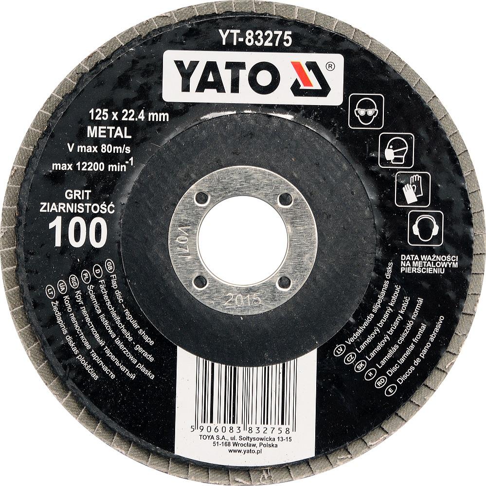 Kotouč lamelový brusný na kov 125x22,4mm P100