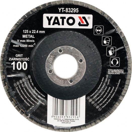 Kotouč lamelový korundový 125 x 22,2 mm vypouklý brusný P80
