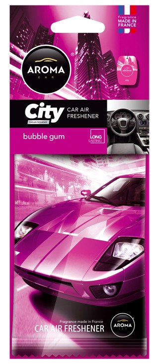 Osvěžovač AROMA CAR CITY BUBBLE GUM
